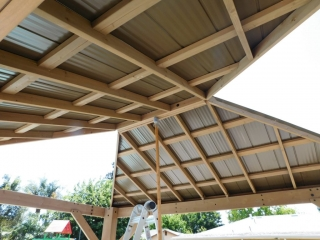 Gazebo Large Roof Connection different angle