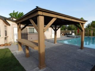Close Up Picture of Gazebo