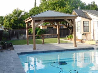 Complete Gazebo With Bar Pool Side