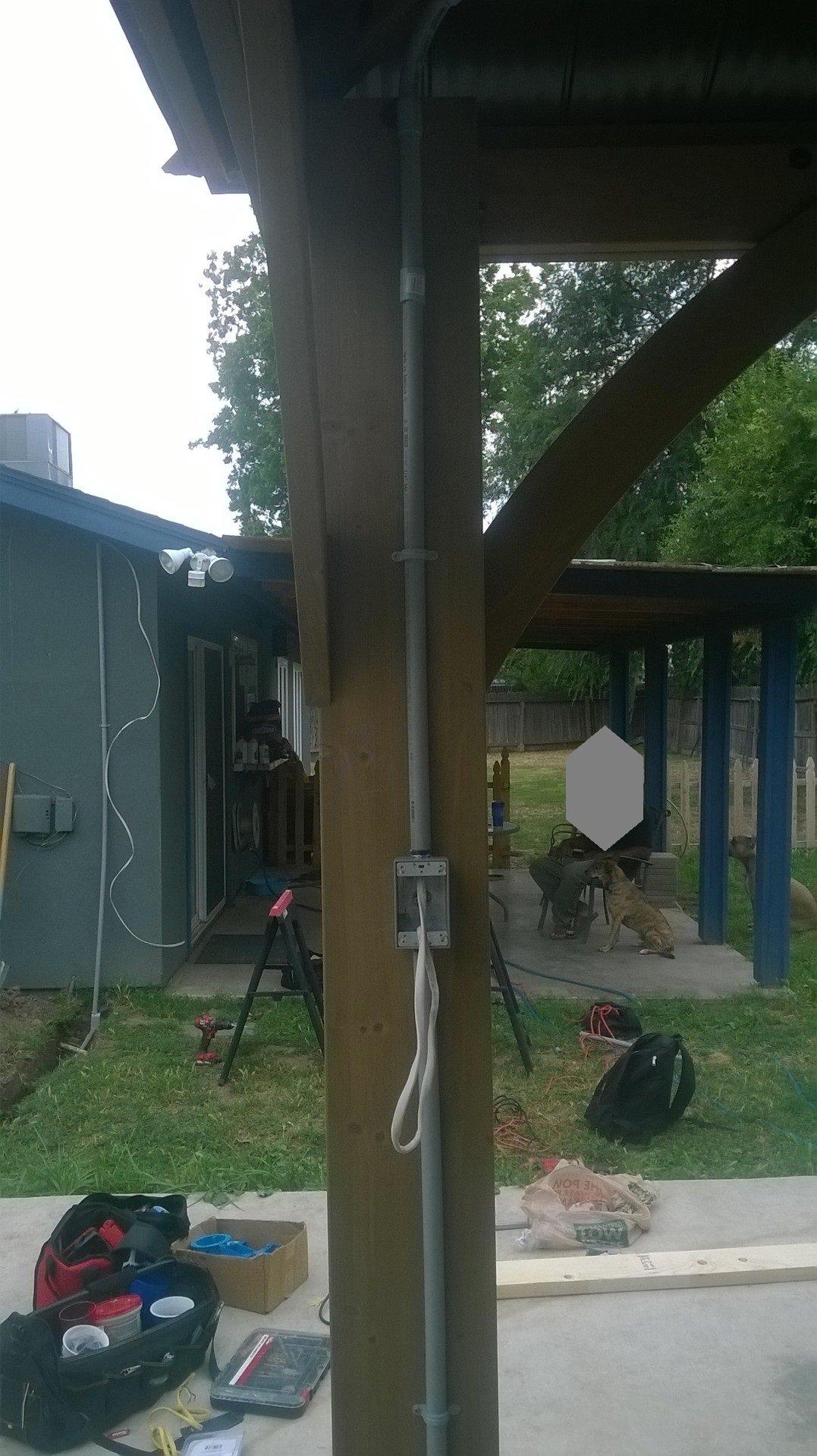 Gazebo Power Switch and Ceiling Fan Installaion