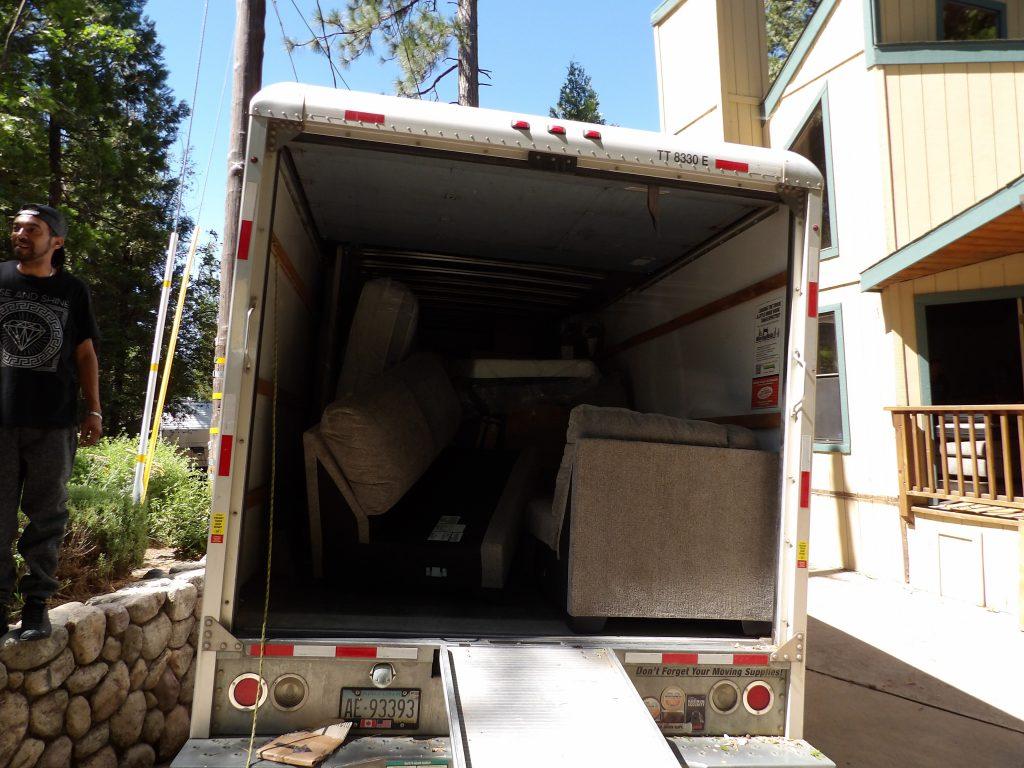 Unloading a U haul truck and assembling furniture