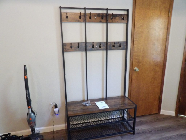 Coat and Shoe Rack Assembly