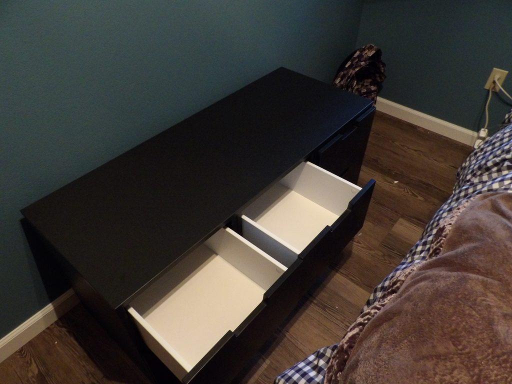 Ikea 6 Dresser Draw Inside Look