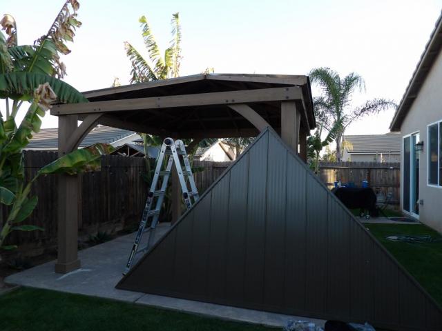 12x14 Yardistry Gazebo Roof Panels