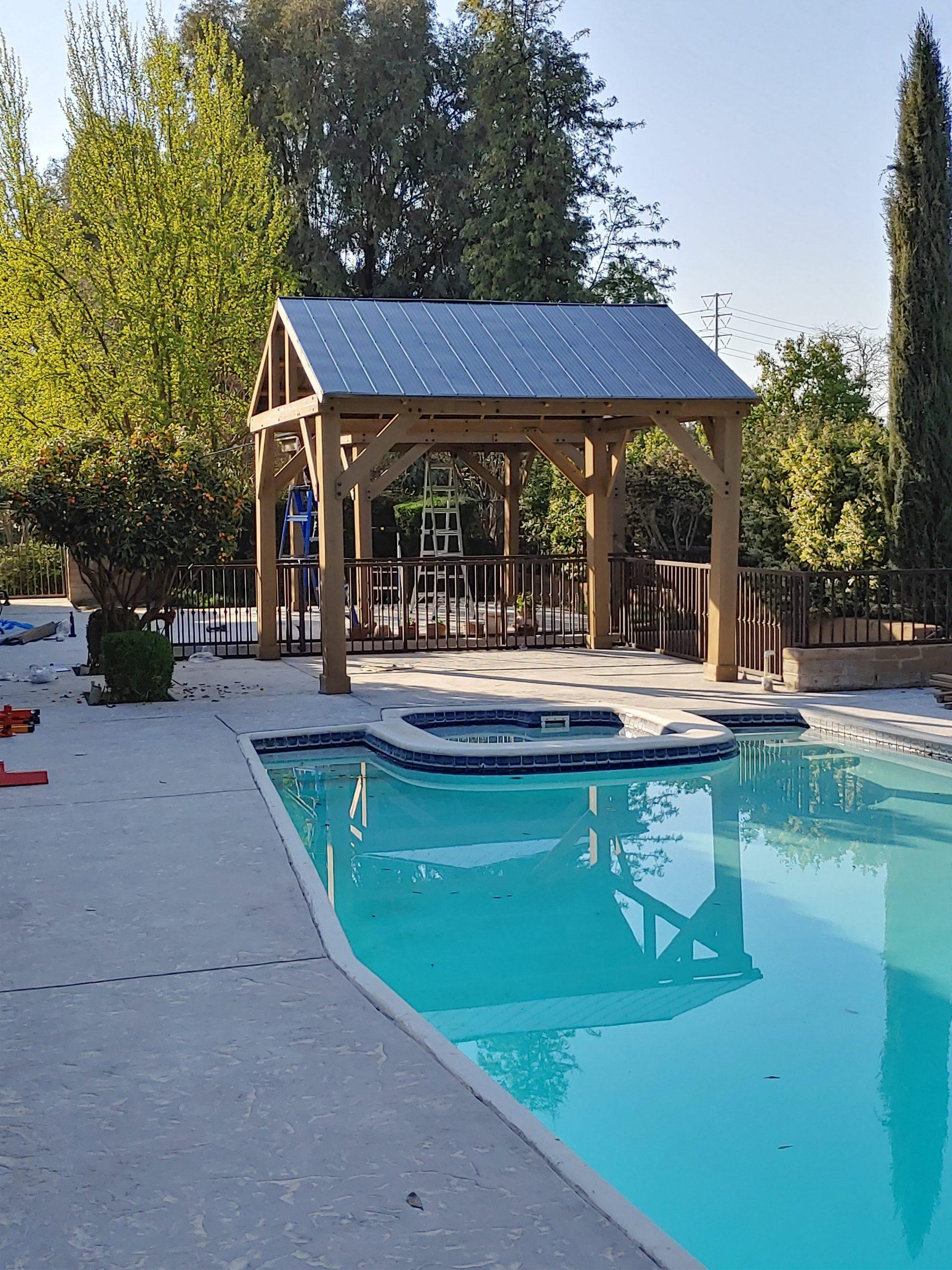 Hot Tub and Poolside Gazebo